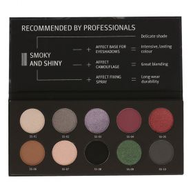 Affect Cosmetics -  Smoky And Shiny Pressed Eyeshadows Palette