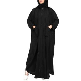 Al Faysaleya - Black and White Abaya