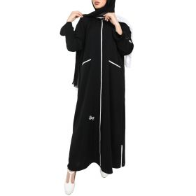 Al Faysaleya - Black White Strip Sport Abaya