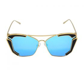 Eight Sunglasses The Breaker Gold and Blue Mirror