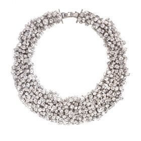 Arium Collection - Snow White Rhodium/White Necklace