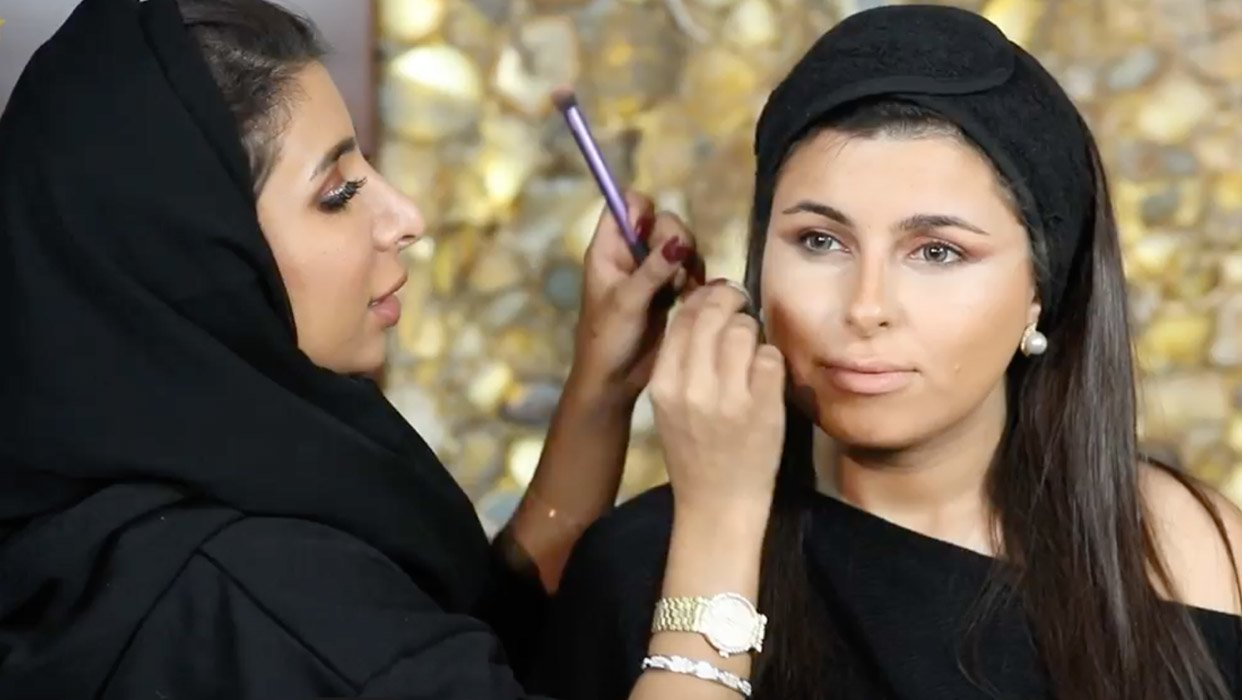 Makeup Tutorial by Mina Al Sheikhly on Mariam Al Yassi