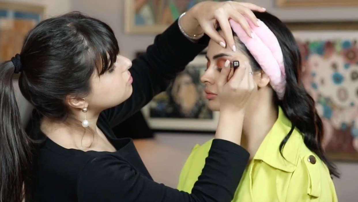 Makeup Tutorial by Mina Al Sheikhly on Shahd Al Jumaily