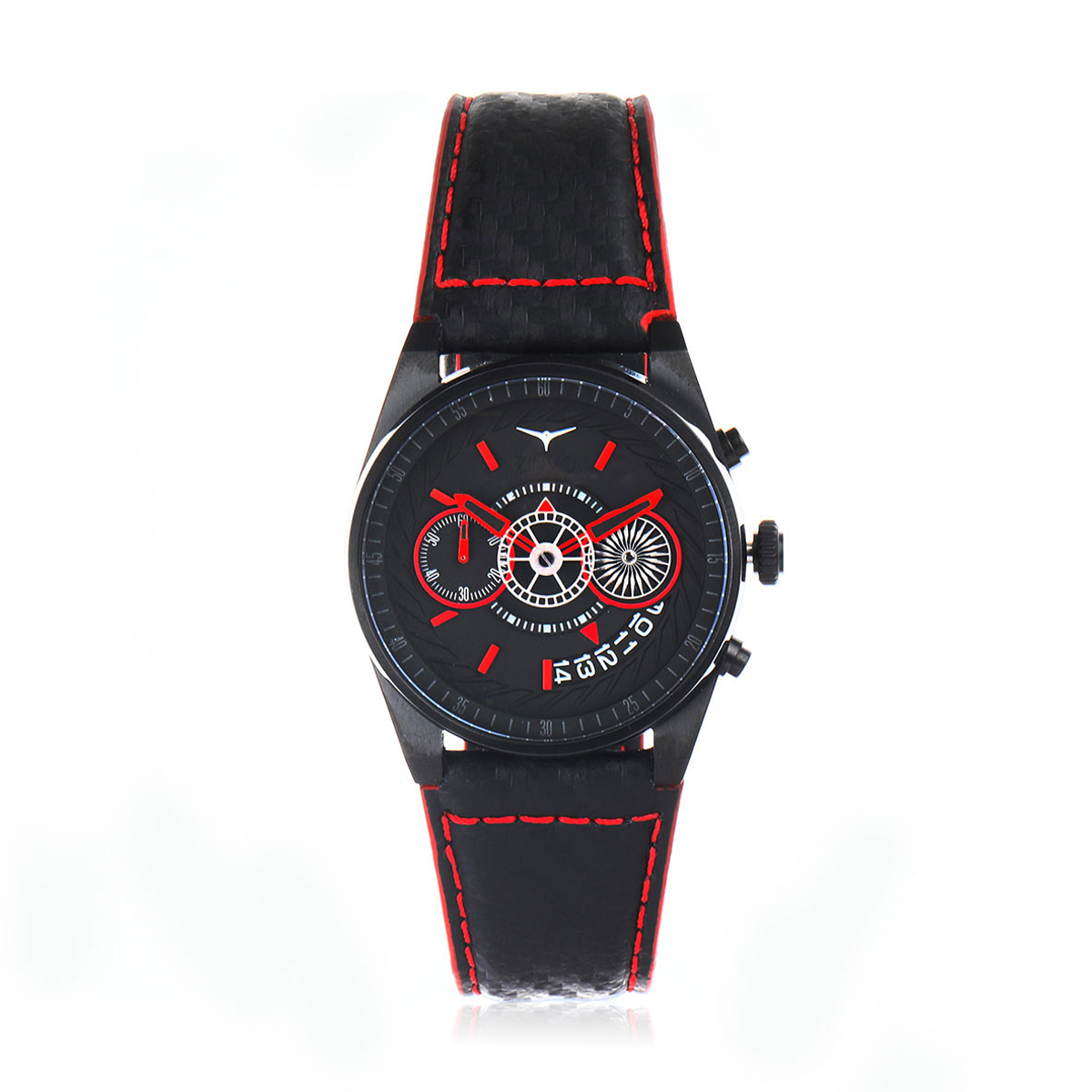 Chrono Corsa Grey Leather Quartz Watch
