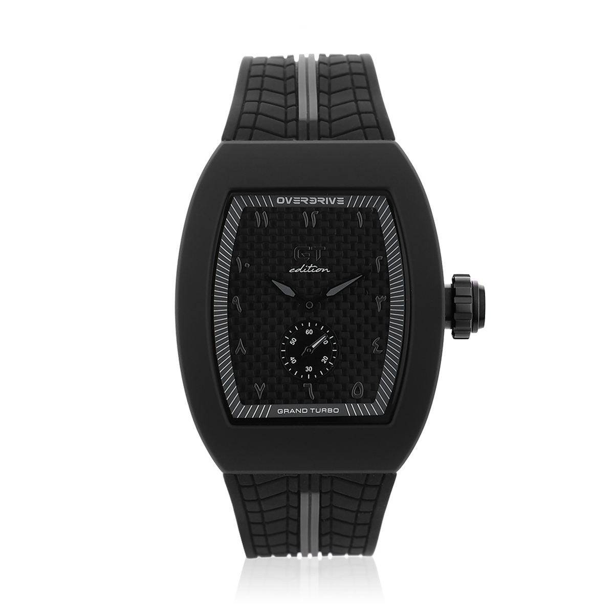 GT Edition Black & Grey Sports Watch With Arabic Markers
