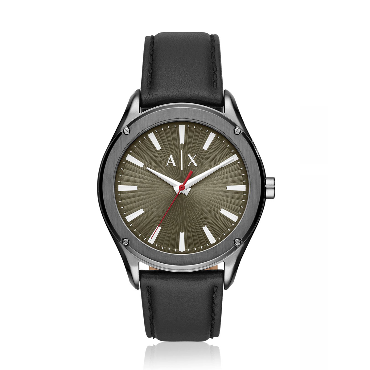 Fitz Black Leather Quartz Watch