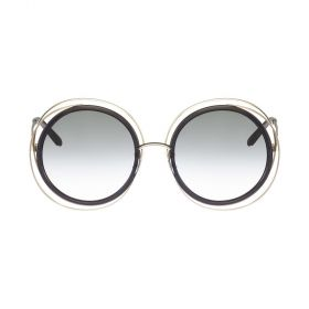 Chloe Sunglasses Carlina gold & grey transparent Sunglasses