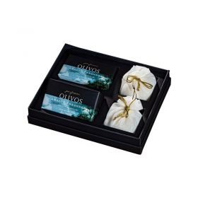 Olivos Perfumes Gift Set - Amazon Freshness (2*250 gm Soap - 2*100gm Powder Soap)