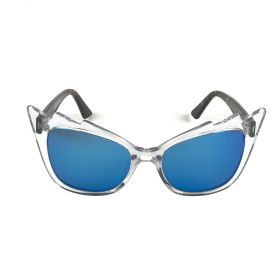 Eight Sunglasses - Stella Cateye Blue & Crystal Sunglasses