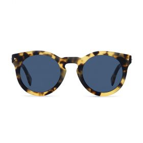 Fendi - Round Blue & Blonde Havana Sunglasses