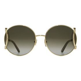Chloe Sunglasses gold khaki Sunglasses