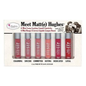 The Balm Meet Matte Hughes Mini Long-Lasting Liquid Lipstick Set - 6 Pcs