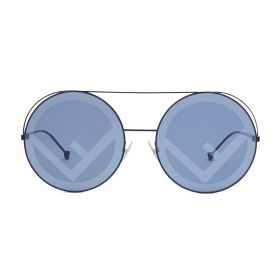 Fendi - Round Grey Blue & Blue Sunglasses