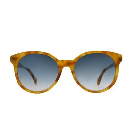 Fendi - Round Dark Blue Gradient & Honey Havana Sunglasses
