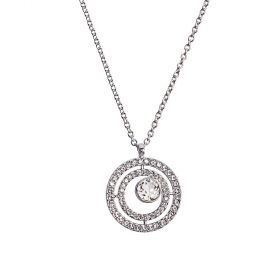 Daniel Swarovski® Edition Silver Pavé Circle Necklace