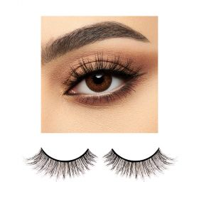 BJ Beauty ProLenses Eye Lenses + Eyelashes - Maya Brown PWR 0.0