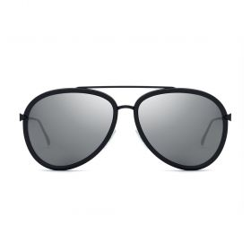 Fendi - Aviator Grey Silver Mirror & Black Sunglasses