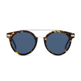 Fendi - Round Blue & Havana/Palladium Sunglasses