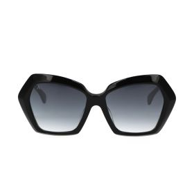 Bloom - Hexagonal Black Sunglasses