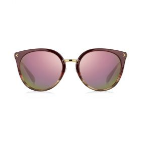 Givenchy -  Round Pink Multilayer & Burgundy/Brown Sunglasses