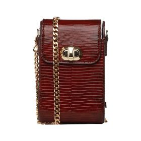 Saly Boutique - Nosa Cross Body Lizard Skin Bag - Maroon