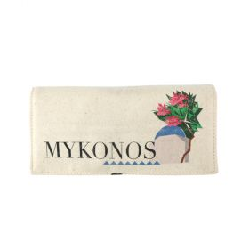 Mykonos Folding Jewelry Canvas Pouch - Beige