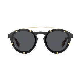 Givenchy -  Round Grey & Black Sunglasses