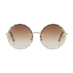 Chloe - Rosie Round Gold Brown Gradient & Gold Sunglasses