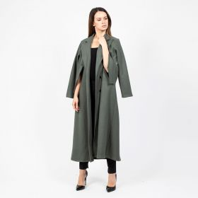 Long Cape Jaket - Olive Green