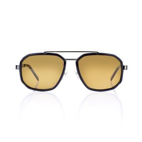 Round Gold & Gunmetal Sunglasses