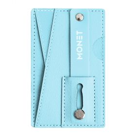 Monet - Mobile Wallet, Grip And Kickstand - Baby Blue