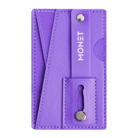 Monet - Mobile Grip+wallet+Kickstand - Barney purple