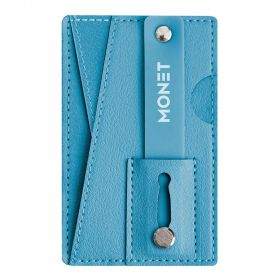 Monet - Mobile Grip+wallet+Kickstand - Light Blue