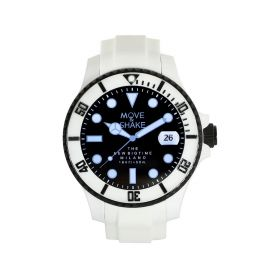 Quartz Black & White Watch - Men