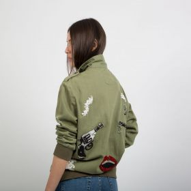 Gun Power Denim Jacket - Army Green
