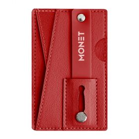 Monet - Mobile Grip+wallet+Kickstand - Red