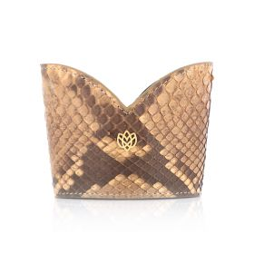 Apricot Python Leather Cup Sleeve