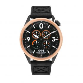Lancaster Bomber - Black & IP Black/Rose Gold - Men
