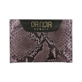Or Noir -  Leather Card Holder - Purple