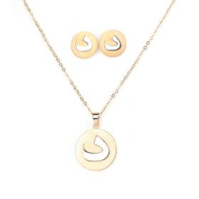Arabica set(د)  of Necklace and Earings- Silver and Gold Plated