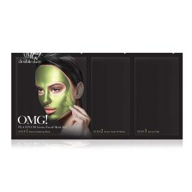 Double Dare - OMG Platinum Green Facial Mask Kit - 3 in1