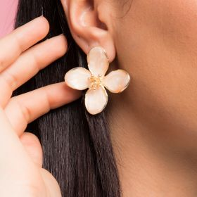 Beige Iron Earrings