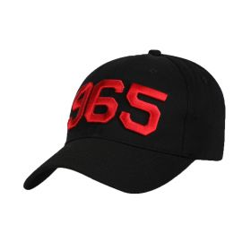 Black Cap with Red 965 Logo