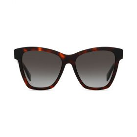 Fendi -  Cateye Brown Gradient & Dark Havana Sunglasses