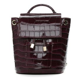 Amber - Dark Purple Cross Body Leather Bag