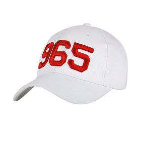 White Cap with Red 965 Logo