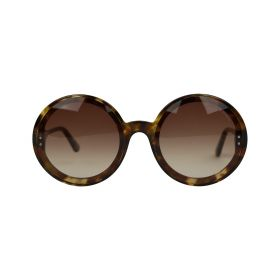 Bottega Veneta -  Round Brown Gradient & Havana Sunglasses