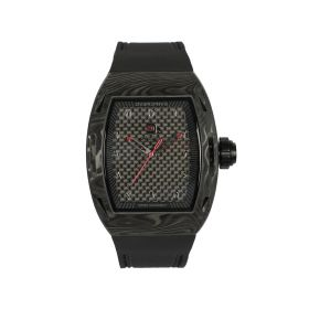 Quartz Matte Black Watch - Men
