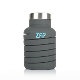 Collapsible Water Bottle - Gray - 600ml