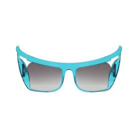 Barn's Collection - Mimialeblanc's #1 Oriental Half-Mask Black & Blue Sunglasses